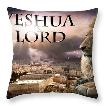 Yeshua Is Lord Throw Pillow by Bill Stephens