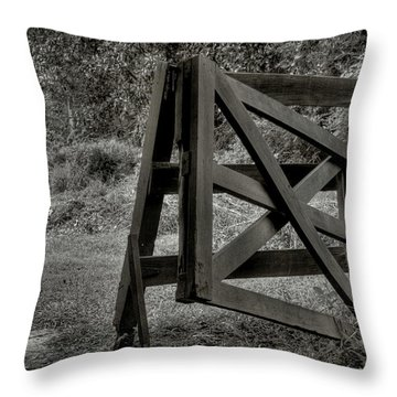 Yesterday's Gate Throw Pillow