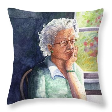 Throw Pillow featuring the painting Yesterday's Gone by Marilyn Smith
