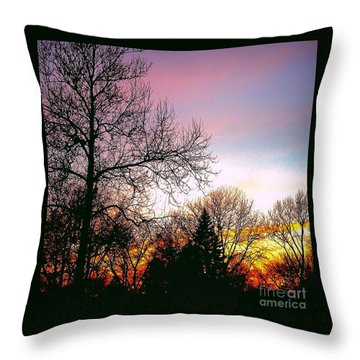 Yesterday's Sky Throw Pillow