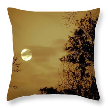 Yesteryears Moon Throw Pillow by DigiArt Diaries by Vicky B Fuller