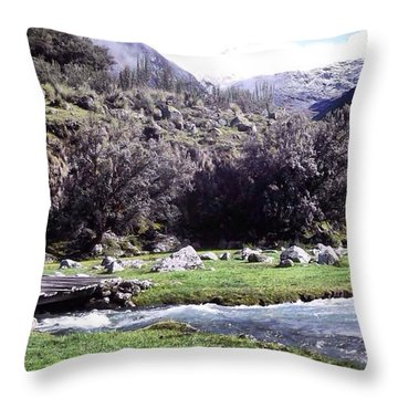 Yet Another Travel Pic 😄 Hiking In Throw Pillow