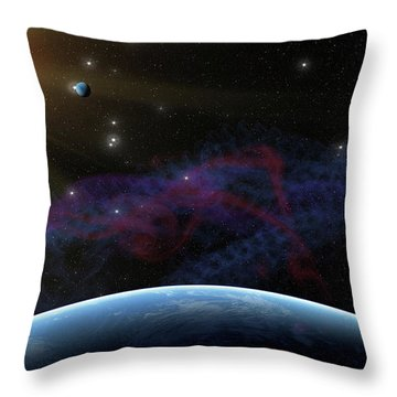 Yet Seen Places Throw Pillow by James Heckt