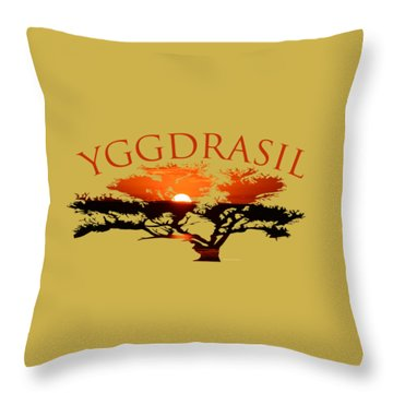 Yggdrasil- The World Tree Throw Pillow