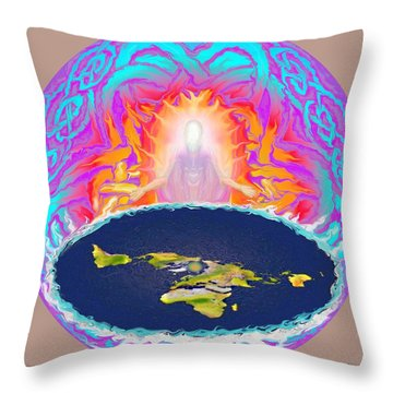 Yhwh Creation Throw Pillow