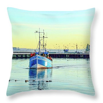Yield For Ducks Throw Pillow