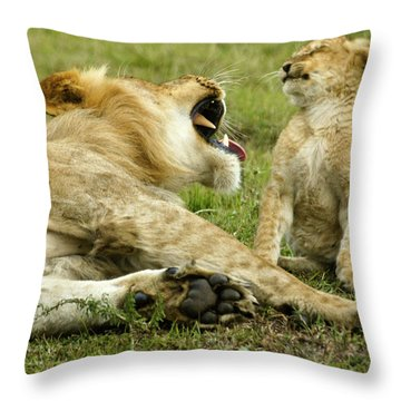 Yikes Throw Pillow