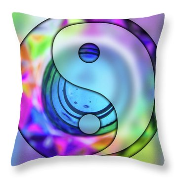 Yin And Tang In Purple  Throw Pillow