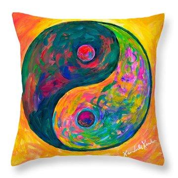 Yin Yang Flow Throw Pillow