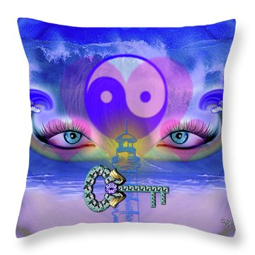 Yin Yang Key To Peace #190 Throw Pillow