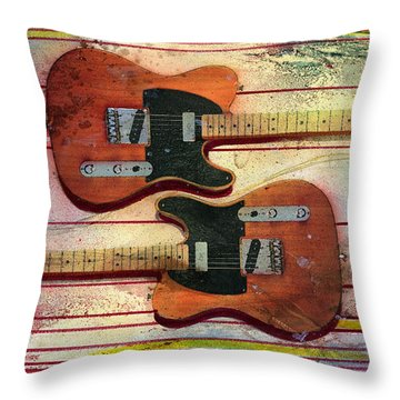 Yin-yang Teles Throw Pillow by Andrew King