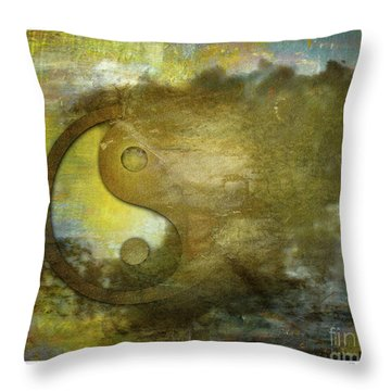 Ying And Yang Unbalanced Throw Pillow