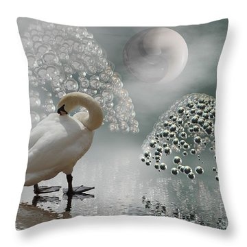 Yinyang - Moon Throw Pillow