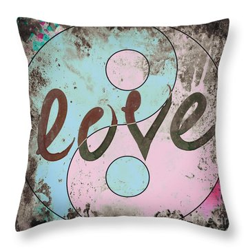 Yinyang Ren Throw Pillow