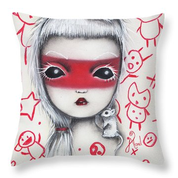 Yo  Throw Pillow by Abril Andrade Griffith