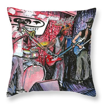 Yo Mammas Big Fat Booty Band Throw Pillow by David Sockrider