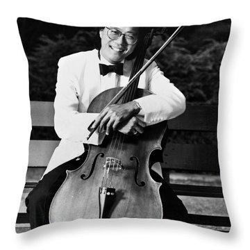 Yo-yo-ma (1955- ) Throw Pillow by Granger