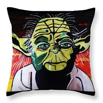 Yoda  Come Home Throw Pillow