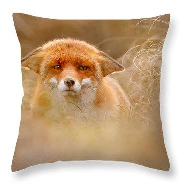 Yoda - Funny Fox Face Throw Pillow