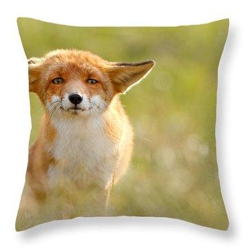 Yoda - Funny Fox Throw Pillow
