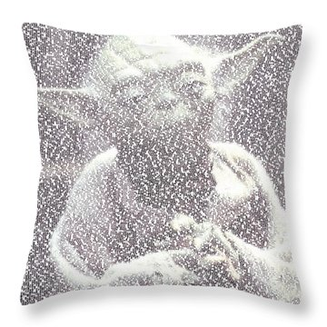 Yoda Quotes Mosaic Throw Pillow