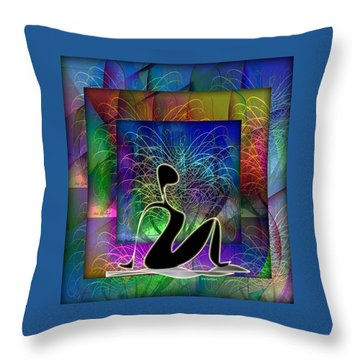 Yoga 6 Throw Pillow