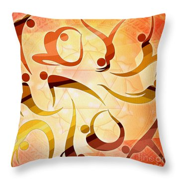 Yoga Asanas Throw Pillow