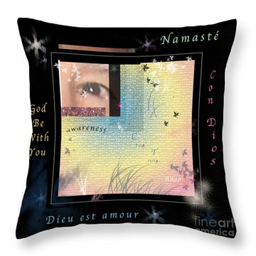 Throw Pillow featuring the photograph Yoga Creativity And Awareness by Felipe Adan Lerma