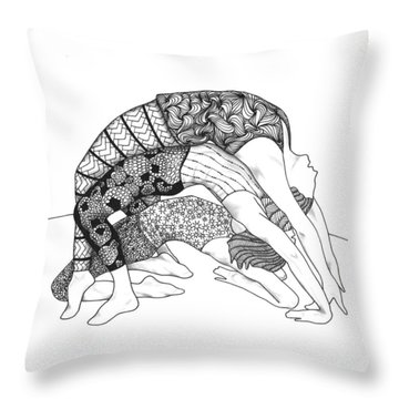 Yoga Sandwich Throw Pillow