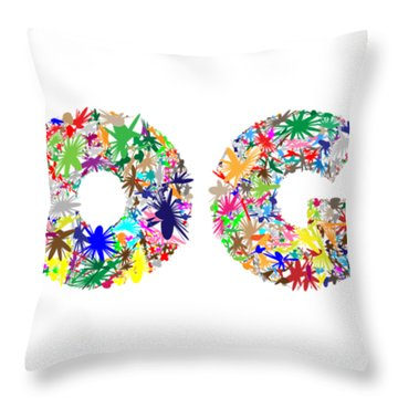 Yoga Word Art Throw Pillow