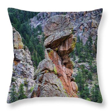 Yogi Bear Rock Formation Throw Pillow by James BO Insogna