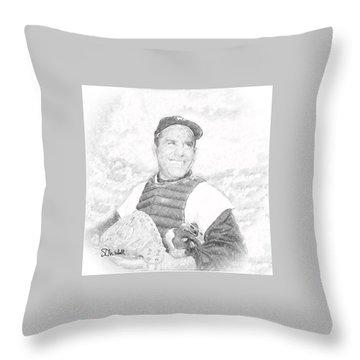 Yogi Berra Throw Pillow