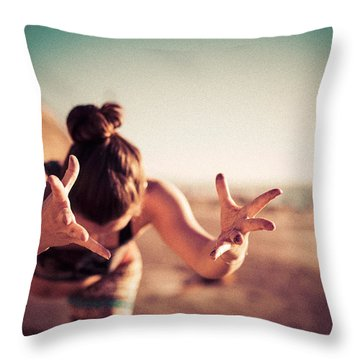 Throw Pillow featuring the photograph Yogic Gift by T Brian Jones