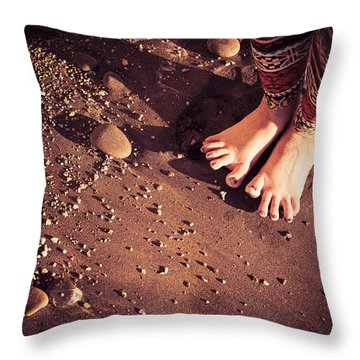 Throw Pillow featuring the photograph Yogis Toesies by T Brian Jones