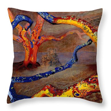 Yolande's Great Oak Throw Pillow
