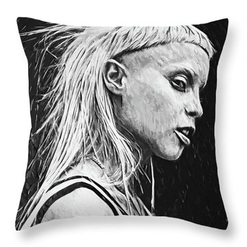 Yolandi Visser Throw Pillow by Taylan Apukovska