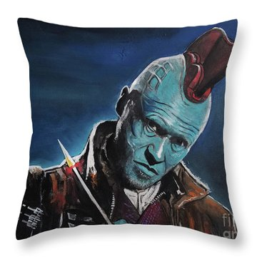 Yondu Throw Pillow by Tom Carlton