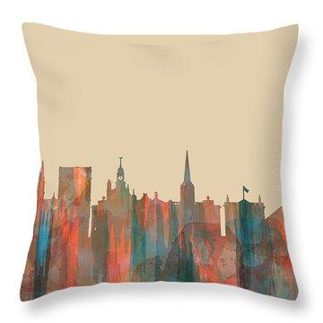 York England  Skyline Throw Pillow by Marlene Watson