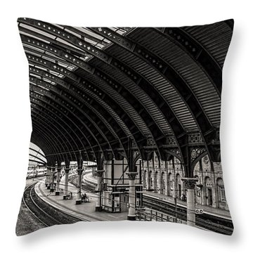 York Railway Station Throw Pillow