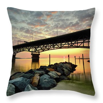 York River Sunrise Throw Pillow