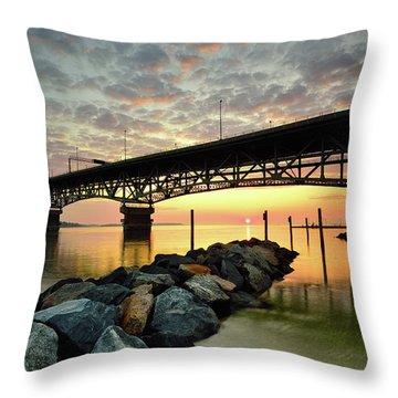 York River Sunrise Throw Pillow