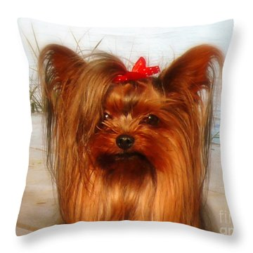 Yorkie Princess Throw Pillow