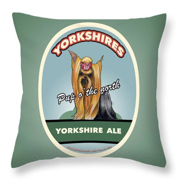 Yorkshire Ale Throw Pillow