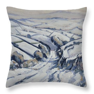 Yorkshire In The Snow Throw Pillow