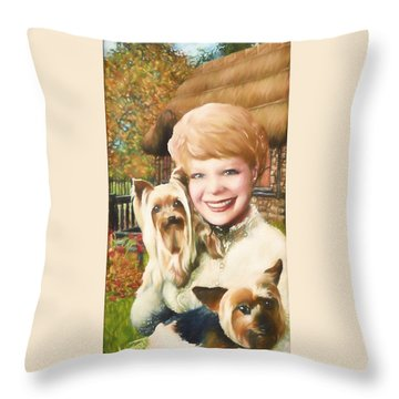 Yorkshire Lady Throw Pillow by Dave Luebbert