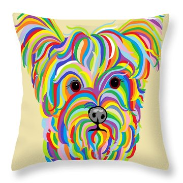 Yorkshire Terrier ... Yorkie Throw Pillow