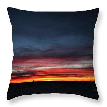 Yorkton Sunrise Throw Pillow by Ryan Crouse