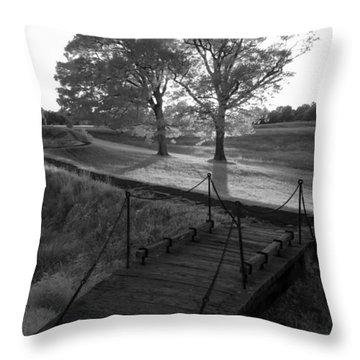 Yorktown - Battlefield Foot Bridge Throw Pillow