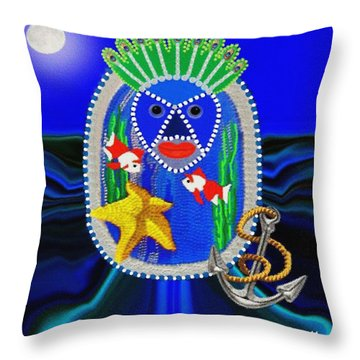 Yemaya Throw Pillows