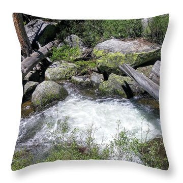 Yosemite Whitewater Throw Pillow